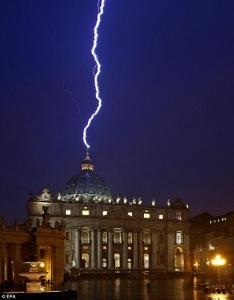 Lightning struck St. Peter's Basilica