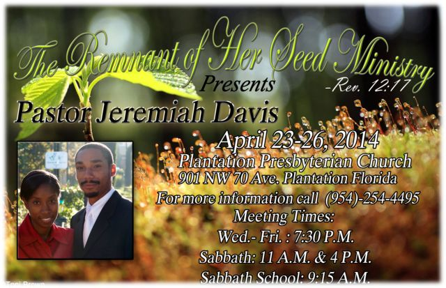 Who are you? Revival Series – (by Pastor Jeremiah Davis)  Recorded – 4/23/2014-4/26/2014
